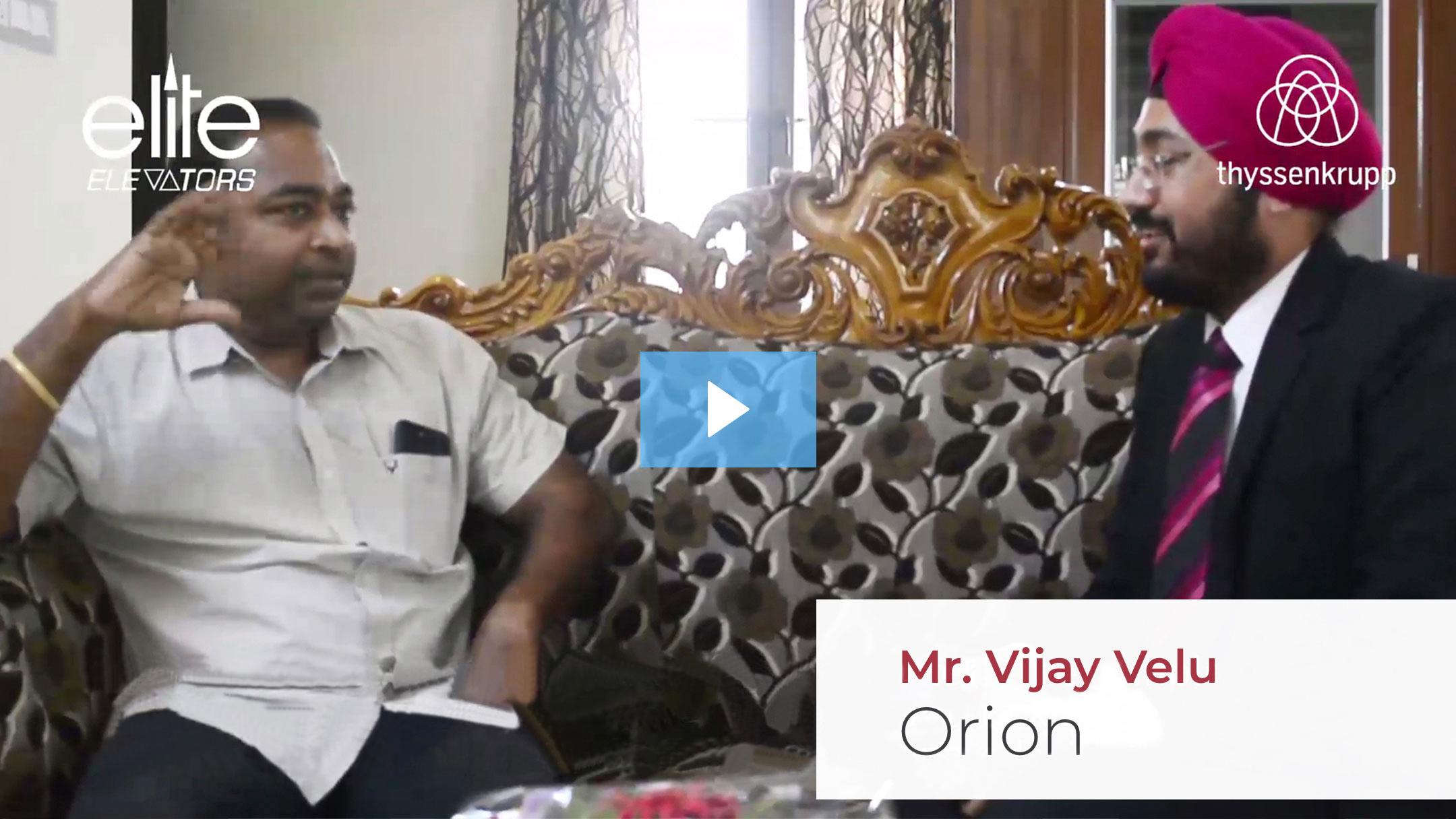 Mr. Vijay Velu Testimonials