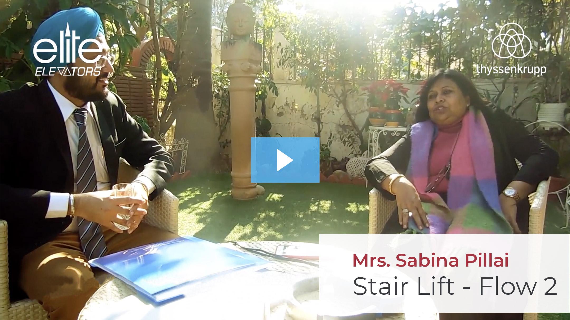 Mrs. Sabina Pillai Testimonails